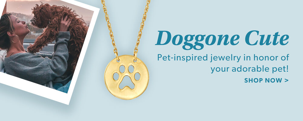 Doggone Cute. Pet-Inspired Jewelry In Honor Of Your Adorable Pet! Shop Now. Image featuring 14kt Yellow Gold Mini Paw Print Cut-Out Necklace 881545