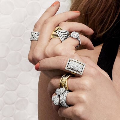 Beautiful diamonds and enamel. Shop Now. Image Featuring