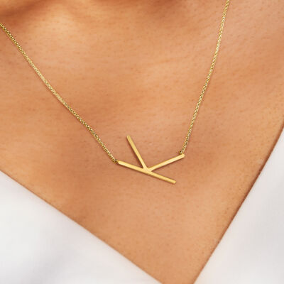 Made-for-you styles. Shop Personalized Necklaces. Image Featuring