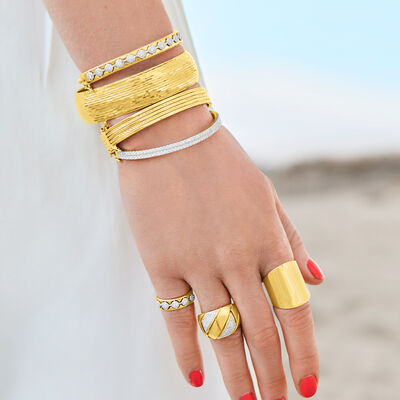 Treat yourself to stunning luxury gold. Shop Now. Image Featuring