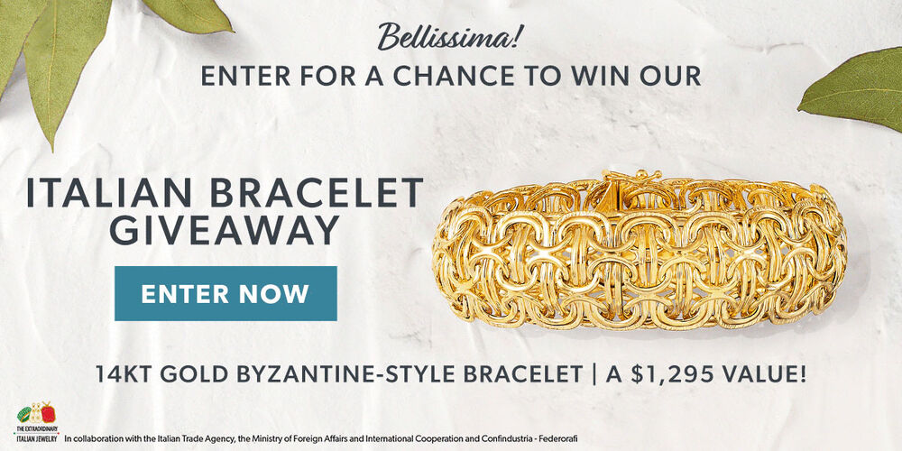 Bellissima! Enter For A Chance To Win Our Italian Bracelet Giveaway. Enter Now. 14kt Gold Byzantine-Style Bracelet. A $1,295 Value!