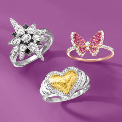 Wear every meaningful look. Shop Symbolic Rings. Image Featuring