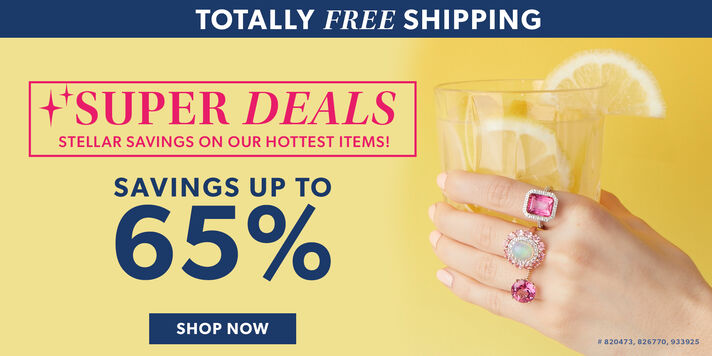 Totally Free Shipping. Super Deals. Stellar Savings on Our Hottest Items! Savings up to 65%. Shop Now. Image featuring Pink Topaz and .25 ct. t.w. Diamond Ring in Sterling Silver 820473, Opal, 1.50 ct. t.w. Tourmaline and .60 ct. t.w. White Topaz Ring in 14kt Rose Gold Over Sterling 826770