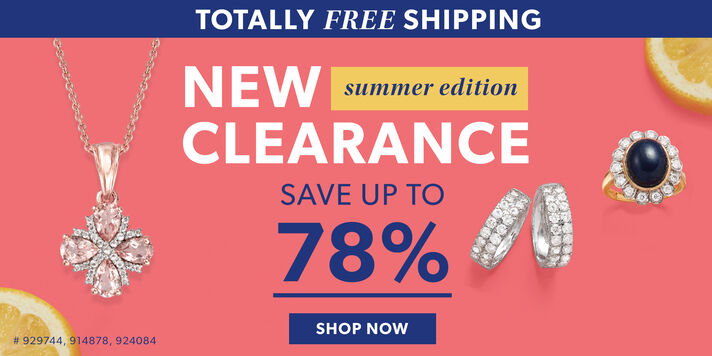 Totally Free Shipping. New Clearance Summer Edition. Save Up To 78%. Shop Now. Image featuring Morganite and .10 ct. t.w. White Topaz Flower Pendant Necklace in 18kt Rose Gold Over Sterling 929744, Double-Row Diamond Hoop Earrings in 14kt White Gold 914878, Sapphire and .48 ct. t.w. Diamond Halo Ring in 14kt Yellow Gold 924084