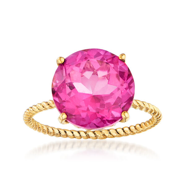 New Arrivals Featuring Pink Topaz Twist Rope Ring in 14kt Yellow Gold 933925
