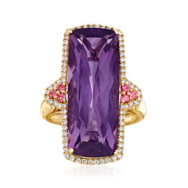 New Arrivals Featuring Purple Amethyst and Diamond Ring in 14kt Gold #928336