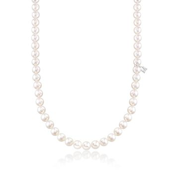 Mikimoto 6.5-7mm 'A' Akoya Pearl Necklace With 18-Karat White Gold. 18""