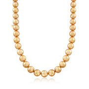 Mikimoto 10.1-12.1mm Golden South Sea Pearl Necklace in 18kt Yellow Gold. 17""