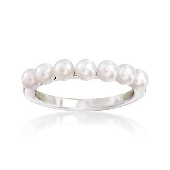 Mikimoto 3.5mm A+ Akoya Pearl Ring in 18kt White Gold