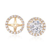 .50 ct. t.w. CZ Earring Jackets in 14kt Yellow Gold