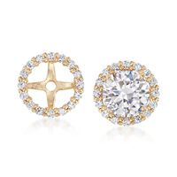 .15 ct. t.w. CZ Earring Jackets in 14kt Yellow Gold