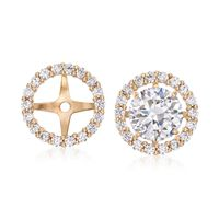 .30 ct. t.w. CZ Earring Jackets in 14kt Yellow Gold