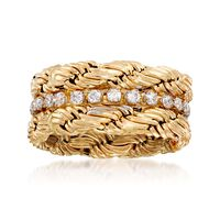 .65 ct. t.w. CZ Twist Eternity Band in 14kt Yellow Gold. Size 5