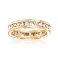 1.80 ct. t.w. CZ Eternity Band in 18kt Yellow Gold Over Sterling Silver . Si..