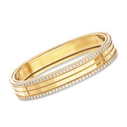 "Roberto Coin ""Portofino"" 1.95ct. t.w. Diamond Four Row Bangle Bracelet in 18kt Yellow Gold. 7"""
