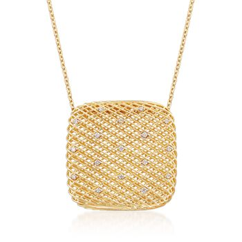 Roberto coin silk 13 carat total weight diamond square pendant roberto coin silk 13 carat total weight diamond square pendant necklace in 18 karat aloadofball Choice Image