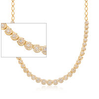 2.00 ct. t.w. Diamond Necklace in 18kt Gold Over Sterling. 17""