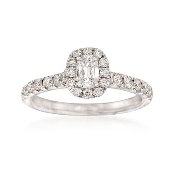 Henri Daussi 1.03 ct. t.w. Diamond Engagement Ring in 14kt White Gold
