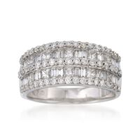 1.50 ct. t.w. Diamond Ring in 14kt White Gold. Size 7