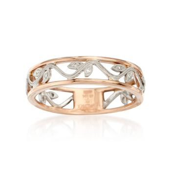 Simon G. Diamond Floral Ring in 18kt Two-Tone Gold