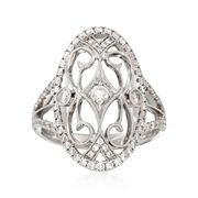 Simon G. .83 Carat Total Weight Diamond Ring in 18-Karat White Gold