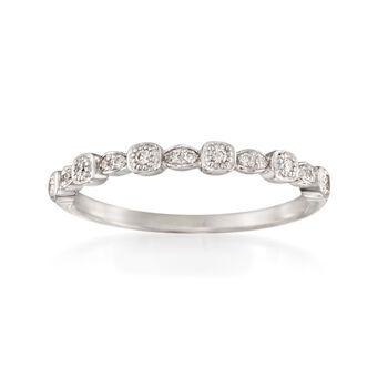 """ALOR """"Flamme Blanche"""" .10 ct. t.w. Diamond Ring in 18kt White Gold"""