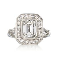Majestic Collection 2.40 ct. t.w. Certified Diamond Ring in Platinum. Size 7