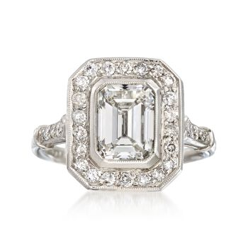 Majestic Collection 2.40 Carat Total Weight Certified Diamond Ring in Platinum