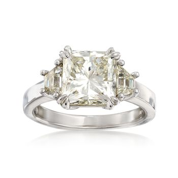 Majestic Collection 4.70 Carat Total Weight Diamond Ring in 18-Karat White Gold