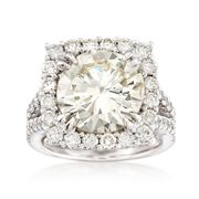 Majestic Collection 8.46 Carat Total Weight Diamond Ring in 18-Karat White Gold