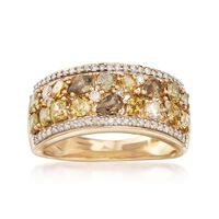 2.00 ct. t.w. Multicolored Diamond Ring in 14kt Yellow Gold. Size 9