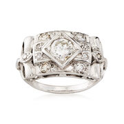 C. 1960 1.10 ct. t.w. Diamond Ring in 14kt White Gold. Size 6