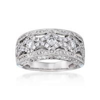1.40 ct. t.w. Diamond Ring in 18kt White Gold. Size 6