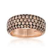 Henri Daussi 1.80 ct. t.w. Brown Diamond Wedding Ring in 18kt Rose Gold