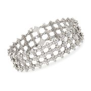 C. 1970 Vintage Tiffany Jewelry 8.50 ct. t.w. Diamond Lattice Bracelet in Platinum. 7""