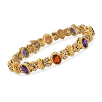 C. 1990 Vintage Cellino 10.20 ct. t.w. Multi-Stone Bracelet in 18kt Yellow Gold. 7.5""