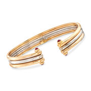 C. 1980 Vintage Van Cleef .60 ct. t.w. Ruby Bracelet in 18kt Two-Tone Gold. 7.5""