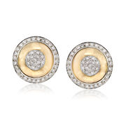 C. 1980 Vintage 4.00 ct. t.w. Diamond Shield Earrings in 14kt Yellow Gold