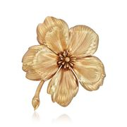C. 1960 Vintage Tiffany Jewelry 14kt Yellow Gold Flower Pin