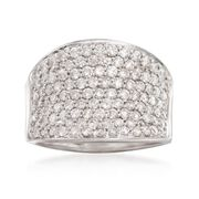 C. 1990 Vintage 2.00 ct. t.w. Diamond Ring in 18kt White Gold. Size 7.5