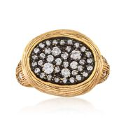 C. 1990 Vintage .67 ct. t.w. Diamond Oval Ring in 14kt Yellow Gold. Size 6.5