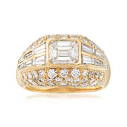 C. 1990 Vintage 3.83 ct. t.w. Diamond Dome Ring in 18kt Yellow Gold. Size 6.25