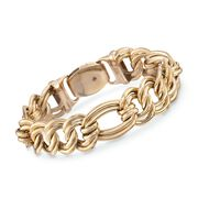 Roberto Coin Link Bracelet in 18-Karat Yellow Gold. 7""