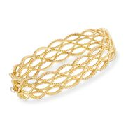 Roberto Coin Barocco 18-Karat Yellow Gold Triple Braid Bangle. 7""