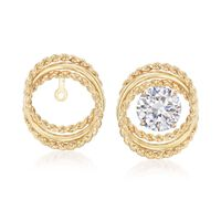 14kt Yellow Gold Twisted Circle Earring Jackets