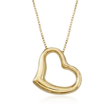 """Roberto Coin Heart Necklace in 18-Karat Yellow Gold. 16"""""""