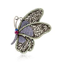 Multicolored Crystal Butterfly Pin Pendant