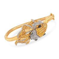 2.60 ct. t.w. Citrine and .20 ct. t.w. Diamond Koi Fish Bangle Bracelet with..
