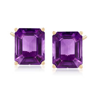 8.00 ct. t.w. Amethyst Earrings in 14kt Yellow Gold