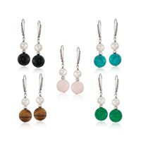 Multi-Stone and 6-6.5mm Cultured Pearl Jewelry Set: Five Pairs of Earrings i..